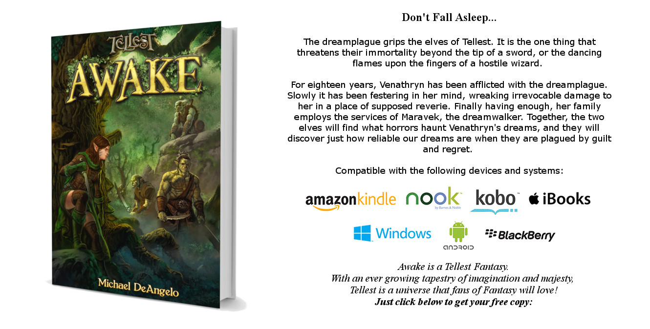 Awake Paperback 3D with Blurb